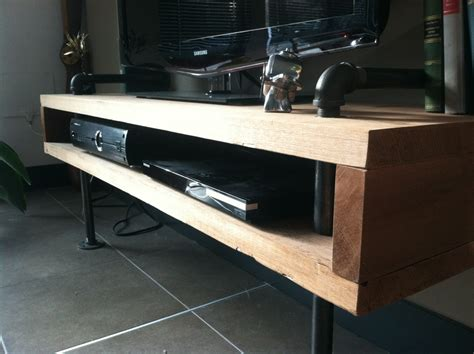 1 Galvanized Floor Flange by Diy Urban Minimalist Tv Stand Meticulous Mrs
