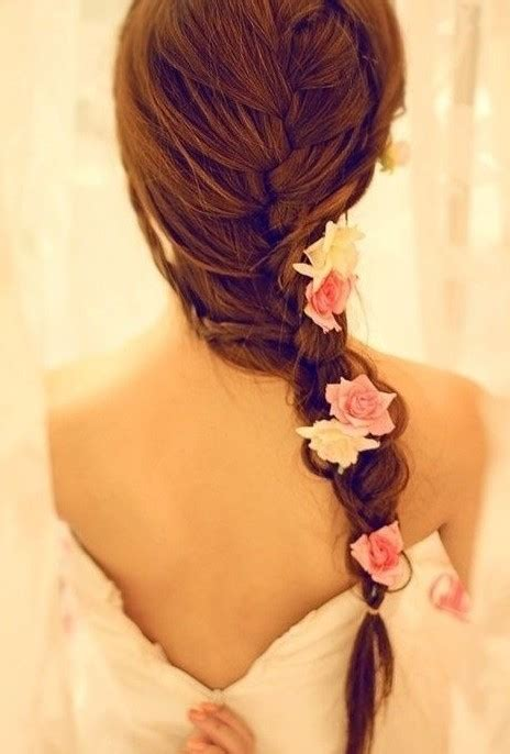 french fishtail braid  wedding  romantic wedding