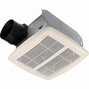 Shop broan 25 sone 80 cfm white bathroom fan at lowescom for 2100 hvi bathroom fan