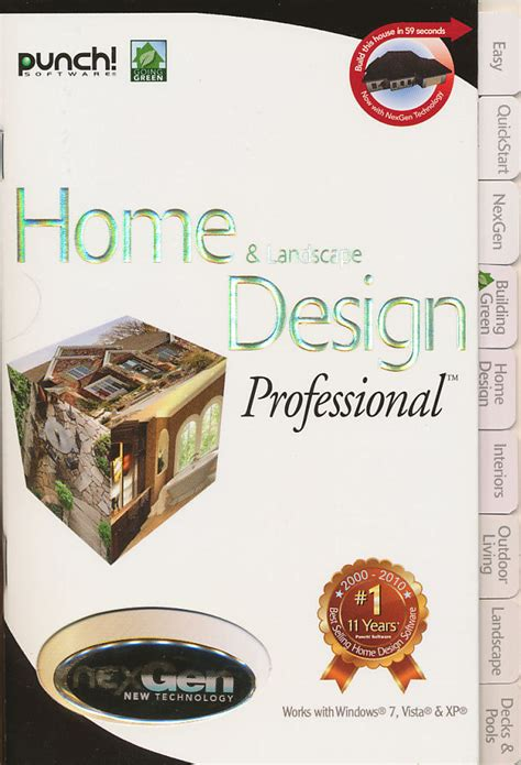 Home Landscape Design Professional With Nexgen Technology V3 by Productivity Punch Software Discounts