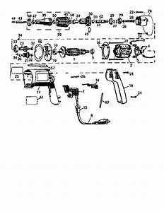 Dewalt Model Dw254 Drill Driver Genuine Parts
