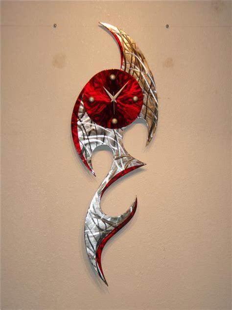 Ebay Wall Decor Metal by Clock Metal Wall Abstract Modern Decor Sculpture Ebay