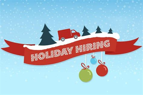 holiday hiring by the numbers infographic