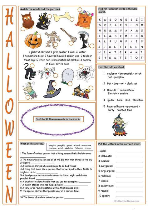 Halloween Vocabulary Exercises Worksheet  Free Esl Printable Worksheets Made By Teachers