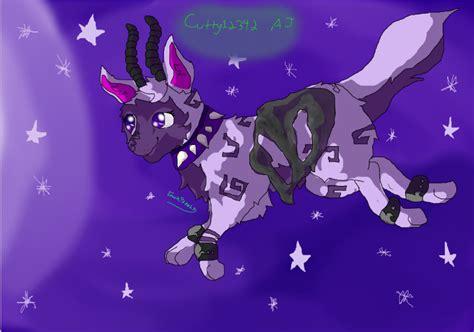 animal jam speedpaint  galixy wolf  emokittehs