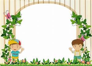 Border, Design, With, Boys, In, The, Garden, 359783