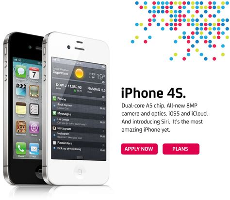 iphone plan smart iphone 4s official plans and pricing in the