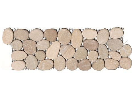 sliced pebble tile border maluku sliced flat cut pebble intrlocking border