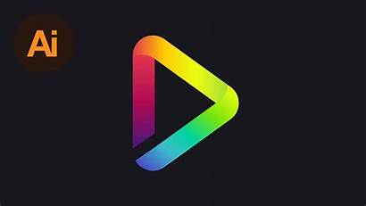 Illustrator Gradient Adobe Tutorial Colorful Logos Create