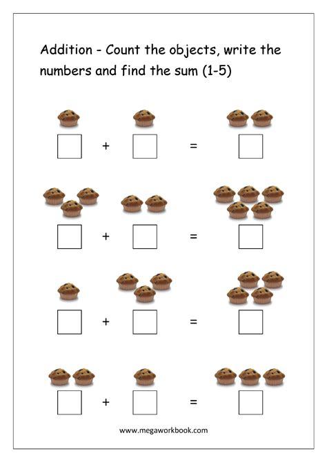 printable number addition worksheets