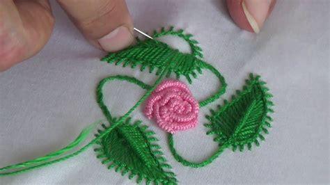 hand embroideryleaf stitch youtube