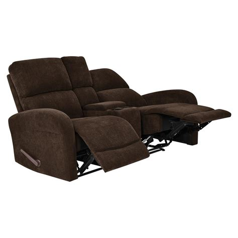 Chenille Loveseat by Prolounger Chocolate Brown Chenille 2 Seat Recliner