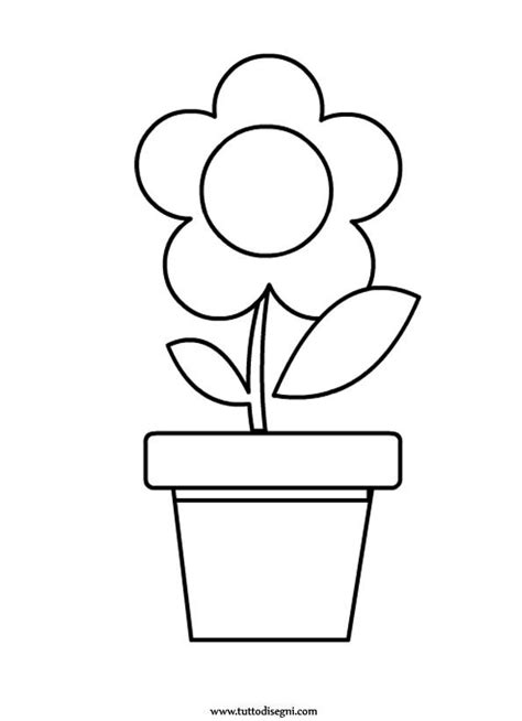 vaso con fiori da colorare fiore con vaso da colorare tuttodisegni any 193 k