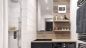 Decoration salle de bain 3m2 for Porte de douche coulissante avec devis refection salle de bain