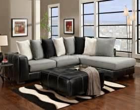 black vinyl grey fabric modern sectional sofa w options