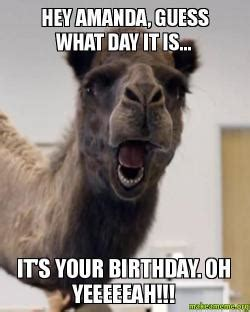 It Is What It Is Meme - hey amanda guess what day it is it s your birthday oh yeeeeeah make a meme