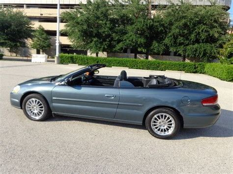 06 Chrysler Sebring by Sell Used 06 Chrysler Sebring Convertible Low Runs