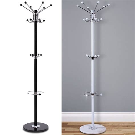 coat rack with umbrella stand 16 hook 172cm coat stand hat jacket holder clothes hanger