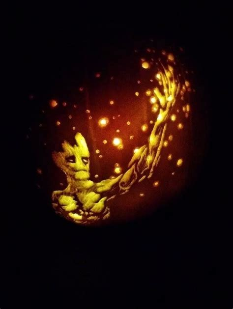 geek art gallery quick pic groot pumpkin