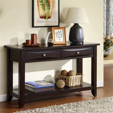 Decorating Sofa Table by Shop Furniture Of America Buldgewin Espresso Two Drawer