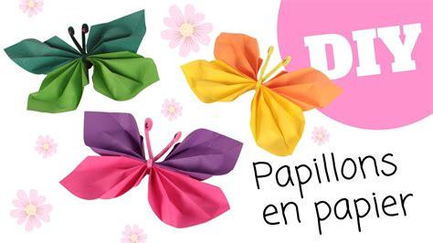 pliage papier facile tutoriel diy papillons en papier pliage facile