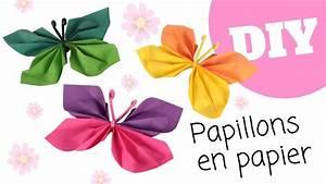 Papillon Papier De Soie : tutoriel diy papillons en papier pliage facile youtube ~ Zukunftsfamilie.com Idées de Décoration