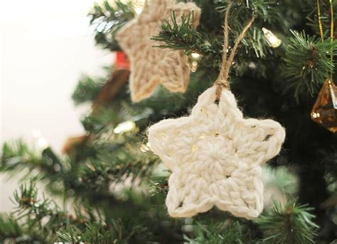 crochet star ornaments free pattern