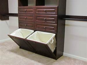 Inspired, Laundry, Hamper, In, Closet, Traditional, With, Closet, Baskets, Next, To, Built, In, Hamper