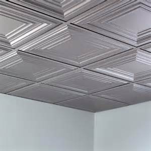 fasade ceiling tile 2x2 suspended traditional 3 in argent