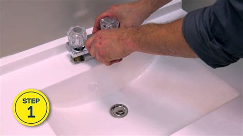 rona   install  replace  bathroom faucet youtube