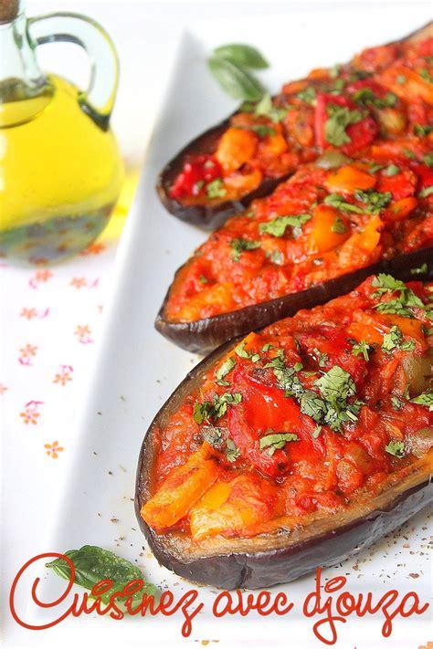 recette aubergines farcies aux poivrons recettes ramadan