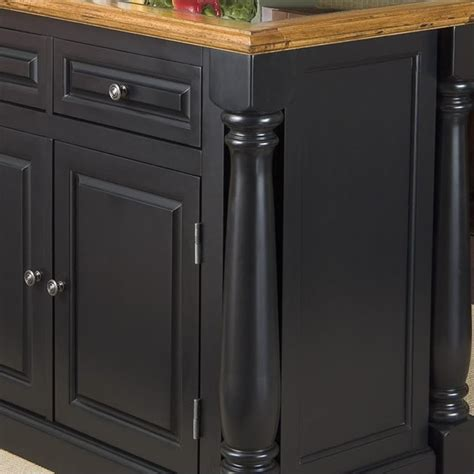 roll  leg granite top kitchen island  black  oak