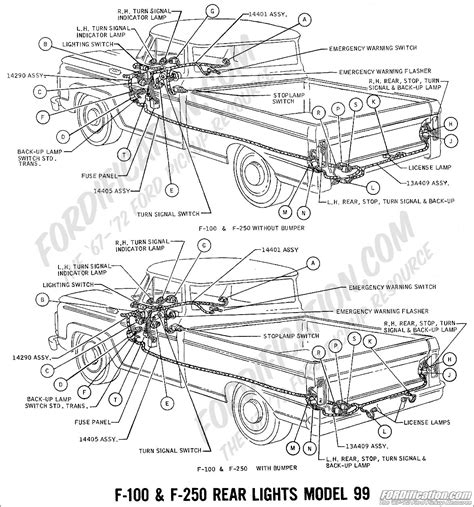 1977 F250 Wiring Harnes by Ford Truck Technical Drawings And Schematics Section H