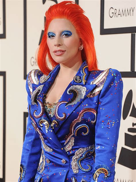lady gagas makeup pro   david bowie inspired grammy
