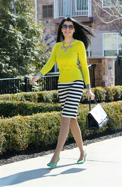 Spring Outfit Ideas JCPenney Pencil Skirt Black u0026 White ...
