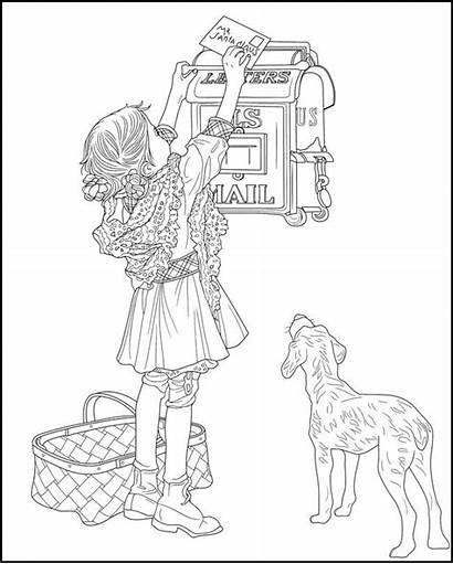 Coloring Pages Dover Saturday Christmas Evening Publications