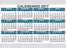 Español calendario 2017 Vector — Archivo Imágenes