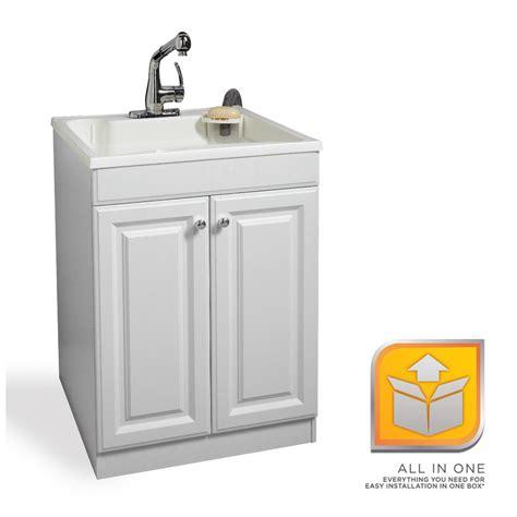 white laundry sink cabinet glacier bay all in one 24 in x 24 5 in x 34 5 in