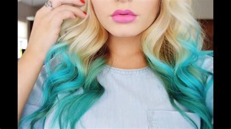 mermaid color hair how to mermaid hair color diy