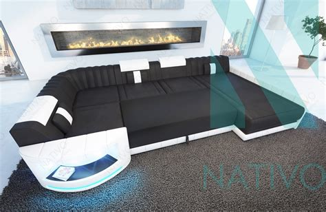 canapé italien sofa canapé atlantis xl ac éclairage led nativo mobilier design