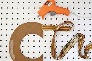 sequin letter garland diy a beautiful mess With letter garland
