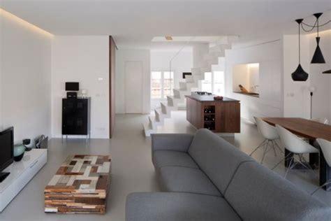 Demar Flooring San Diego by White Duplex Apartment Renovation In Amsterdam