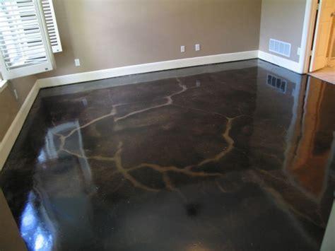 Black acid stain floor   Master Bedroom   Pinterest