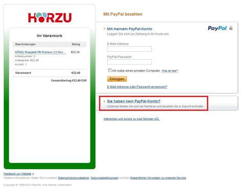 bestellen mit paypal paypal zahlung ohne ein konto anzulegen hilfethemen h 214 rzu pluspakete shop