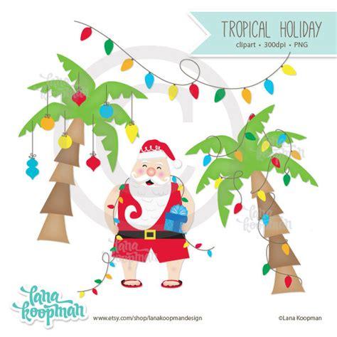 Tropical Santa Clipart (18