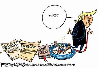 Trump Cartoons Republicans Bunker Donald Fitzsimmons Decade