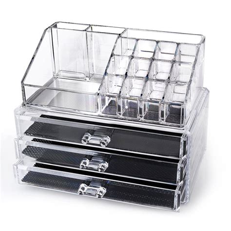 acrylic makeup drawers free home it acrylic makeup organizer buyvia