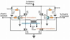 sg3525 full bridge inverter circuit With mosfets the ir2110 mosfet driver integrated circuit was chosen