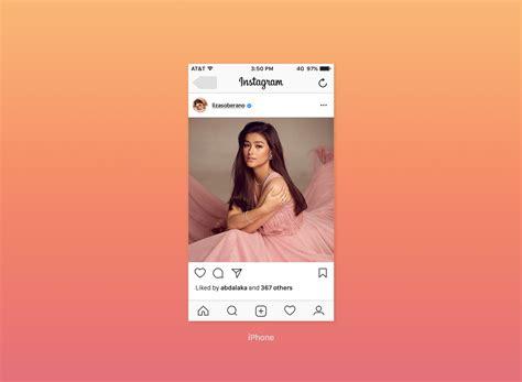 Instagram Mockup Free Instagram Feed Screen Ui Mockup 2017 Mockups