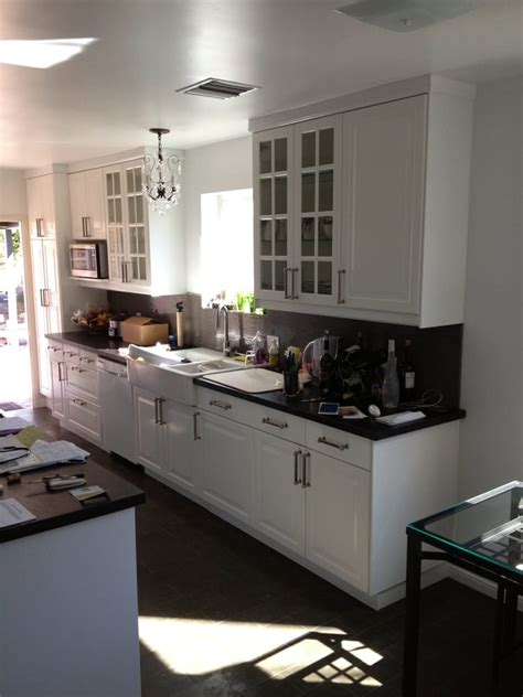 Lidingo Ikea Cabinets by Ikea Cabinets Lidingo White Galley Kitchen Yelp